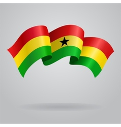 Ghanaian waving flag vector