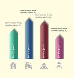 Infographic arrow badge design template vector