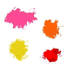 Paint splash set of brush strokes vector