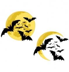 Bats moon vector