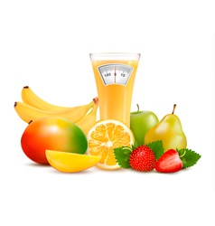 Group of healthy fruit diet concept vector