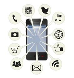 Social smart phone vector