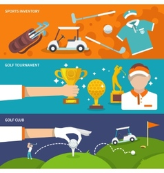 Golf banner set vector