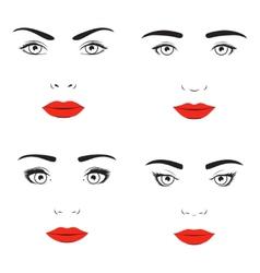 Woman face silhouette vector
