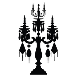 Chandelier silhouettes vector