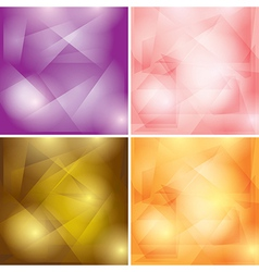 Abstract colored geometric backgrounds vector