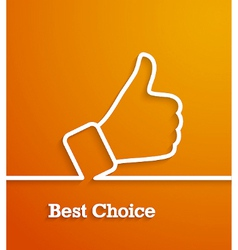 Thumb up paper sign vector
