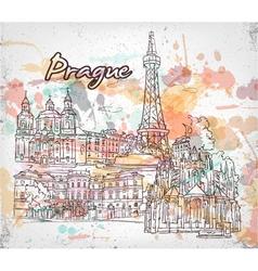 Prague doodles vector