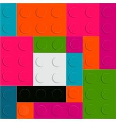 Lego block seamless pattern vector