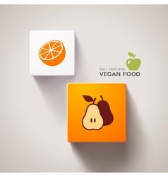 Vegan food concept vector
