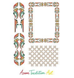 Asian tradition style art collection vector