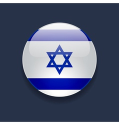 Round icon with flag of israel vector