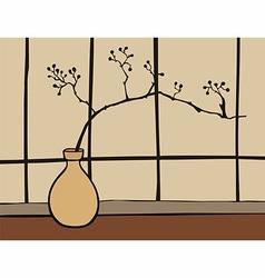 Oriental zen decoration vector