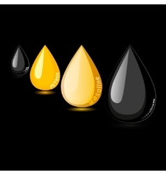 Petroleum gasoline petrol oil drop vector