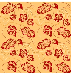 Floral ornament sketch vector