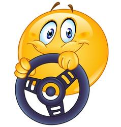 Driving emoticon vector