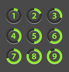 Countdown section icons template vector