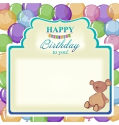 Childrens greeting background with the birthday vector