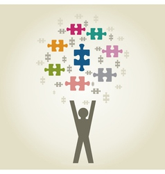 People puzzles vector