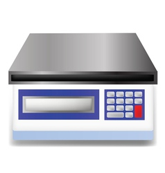 Digital weighing scale vector