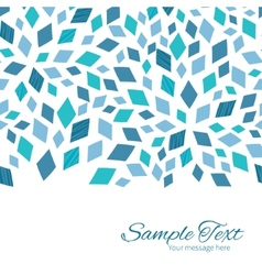 Blue mosaic texture horizontal border card vector