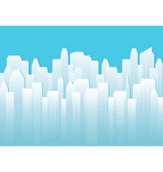 Background with urban landscape vector