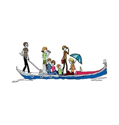 People on the boat vector