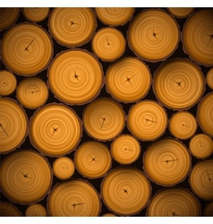 Pile of wood logs vector