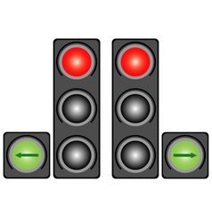 City traffic light vector