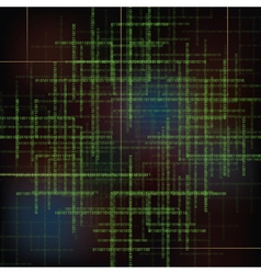 Abstract technology background with binary code vector