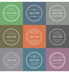 Set of emblems and badges vector