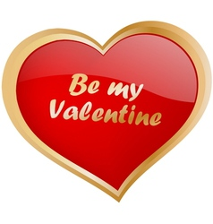 Be my valentine vector