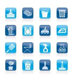 Household objects and tools icons vector