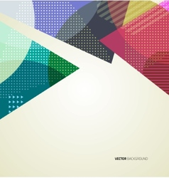 Abstract triangle brochure flyer design vector