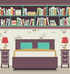 Modern flat design twin bedroom vector