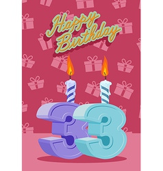 33 years celebration 33nd happy birthday vector