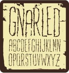 Grunge scratch type font vintage typography vector