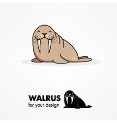 Cartoon walrus vector