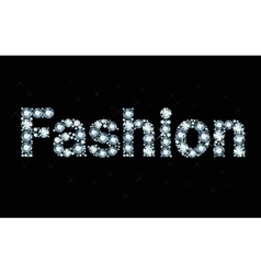 Diamond word fashion vector