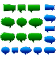 Speech bubbles matt vector