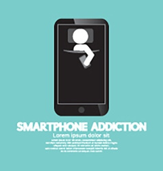Smartphone addiction concept vector