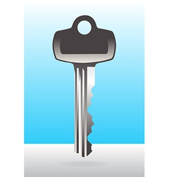 Silver house door key vector
