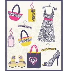 Cute dress card vector