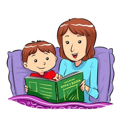 Bed time story vector