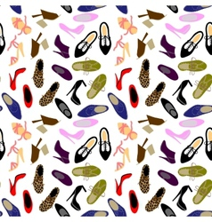 Shoes seamless background vector