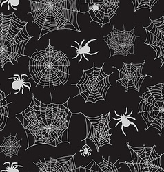 Seamless pattern with spiders vector