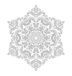 Damask pattern orient grey ornament vector