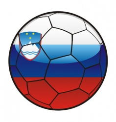 Flag of slovenia on soccer ball vector