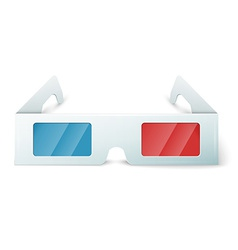 Three d glasses vector