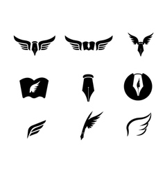 Wing logo vector